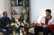 دیدار وحید متانی رئیس هلال احمر شهرستان و همراهان با توحیدی فرماندار شهرستان سوادکوه